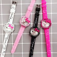 Kt cat children cartoon girl watch girl student watch silico