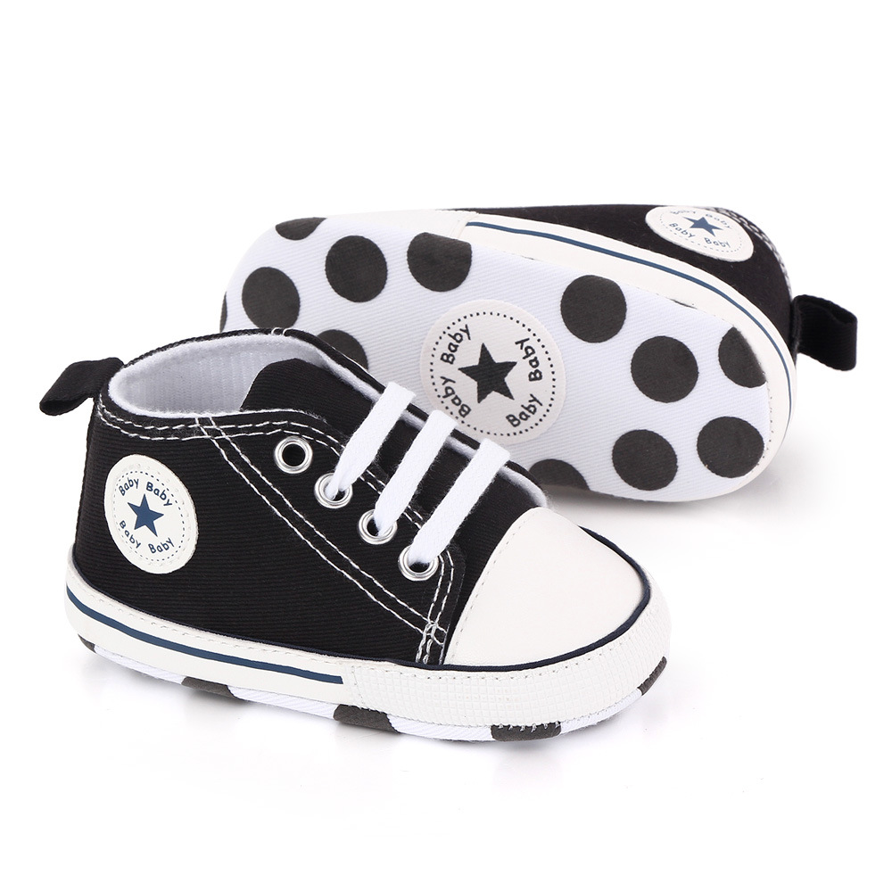 Baby Canvas Classic Sneakers Newborn Print Star Sports Baby Boys Girls First Walkers Shoes Infant Toddler Anti-slip Baby Shoes 5