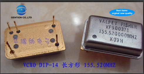 2pcs 100% New And Orginal In-line VCXO Voltage-controlled Crystal DIP-14 155.520MHZ 155.52MHZ 155.52M High Frequency