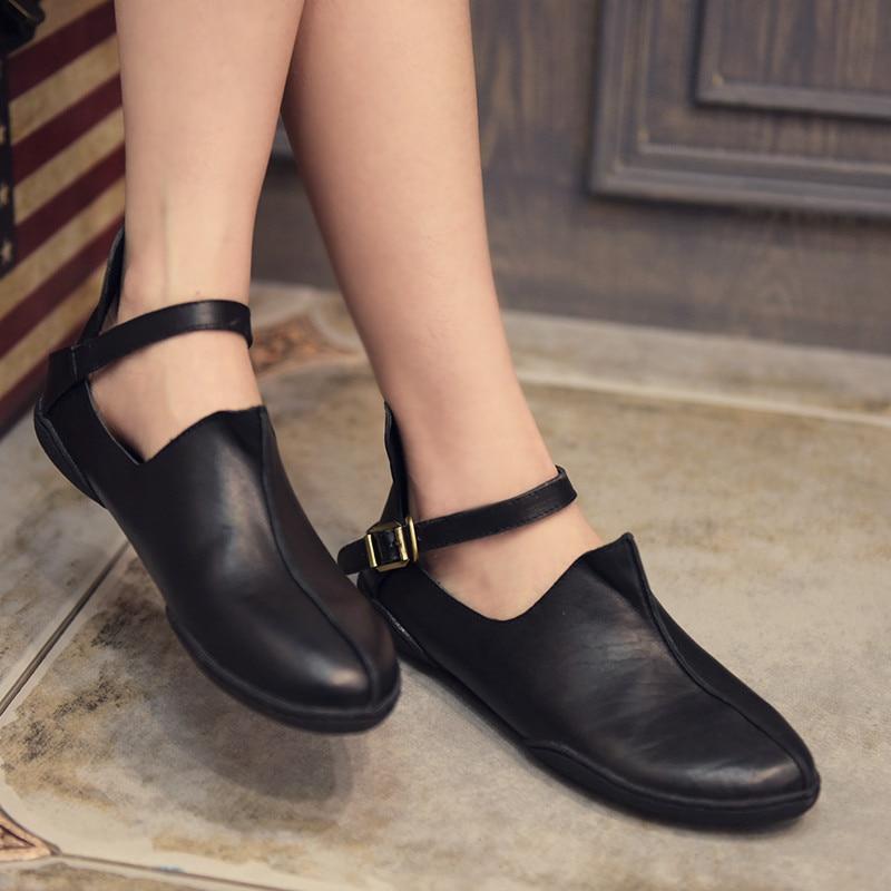Artmu Mary Jane Shoes For Women Flats Shoes Comfort Soft Shoes Footwear Driving Shoes Women zapatos de mujer cuero Fashion