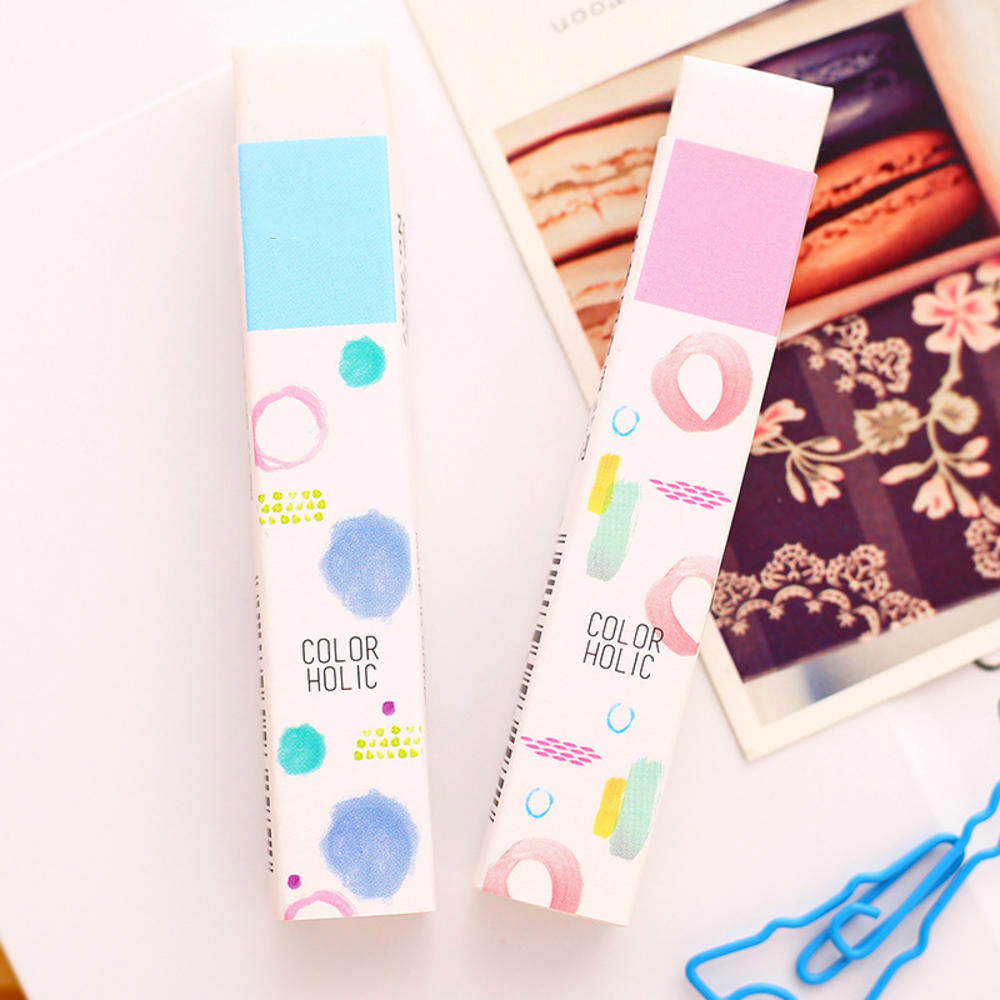 Creative White Rectangle Eraser Pencil Rubber Students Stationery School Office Supplies For Kids Gift Color Random