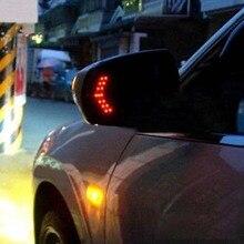 TOSPRA 2 Pcs 14 LED Arrow Panel Car Rearview Indicator Turn Signal Light Car LED Rearview Mirror Lig