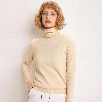 Autumn Winter Women Knitted Warm Turtleneck Sweater Long Sleeve Solid Color Basic Wool Pullover Sweater Slim Casual Femme Jumper sweater women autumn and cardigan women winter v neck knitted long sleeved slim fitting tight warm shirt pullover turtleneck