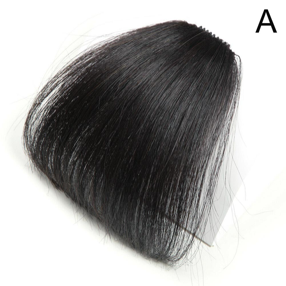 New Thin Neat Air Bangs Fake Hair Seamless Clips In Front Fringe Girls Hairpiece SCI88