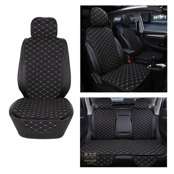 цена на Car Seat Cover Protector Front Rear Back Seat Cushion Pad Mat with Backrest for Auto Automotive Interior Truck Suv or Van