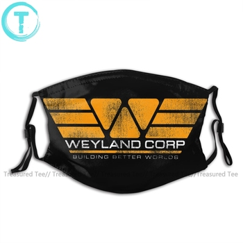Alien Mouth Face Mask WEYLAND CORP Building Better Worlds Facial Kawai Funny with 2 Filters for Adult