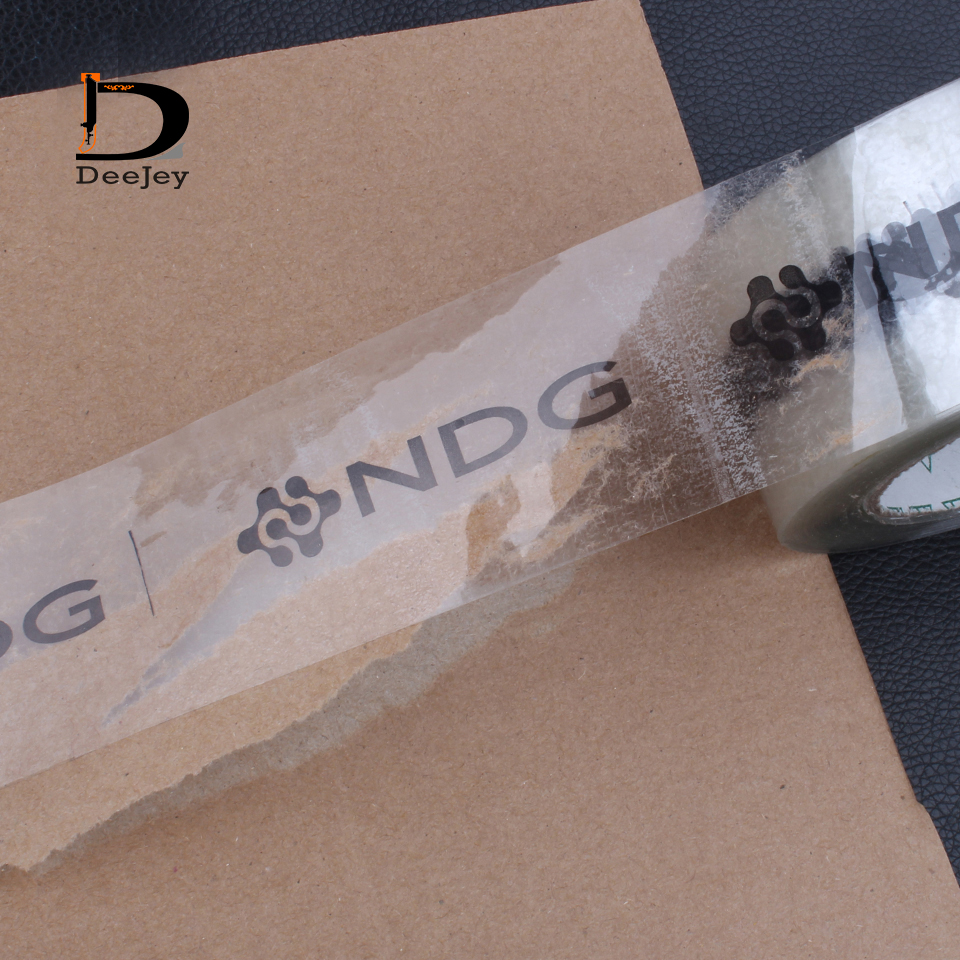 Custom Printed Adhesive Clear Transparent Tape Sealing Tape For Branding Packing 100meter Roll 10 Roll Lot