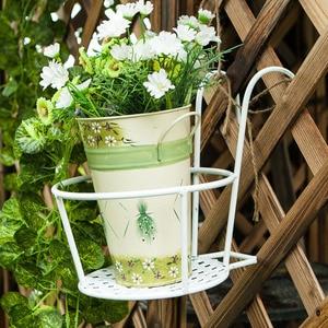 Image 4 - 強力な多彩な軽量幾何学的な金属植物スタンド植物棚ラック屋内 myding
