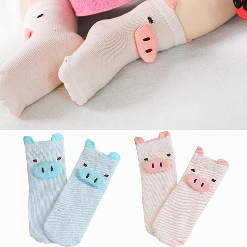 Cute Newborn Socks Cartoon Three-dimensional Pig Baby Short Socks Cotton Soft Baby Boy Girls Shoes Socks Newborn Infant Sock