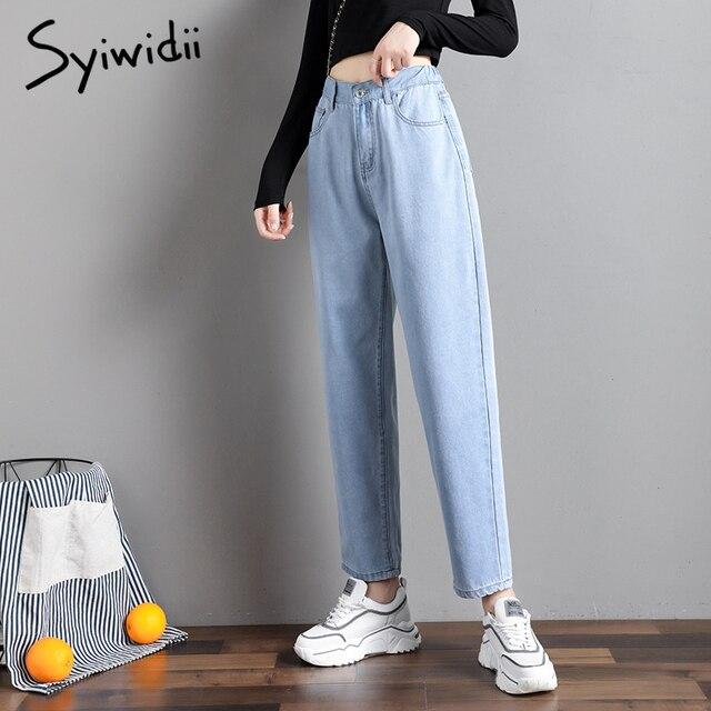 elastic waist black jeans korean fashion   5