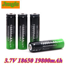 2020 novo 18650 li-ion bateria 19800mah bateria recarregável 3.7v para lanterna led ou dispositivos eletrônicos batteria