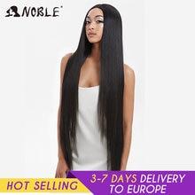 Pelucas de Cosplay Noble para mujeres negras pelo liso sintético de encaje frontal, peluca con malla frontal ombré de 38 pulgadas, Cosplay Rubio, peluca con malla frontal