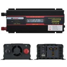 DC 12 V zu AC 220 V 2000W Auto Inverter 12 V 220 V Transformator Adapter Spannung Konverter 12v zu 220v Auto Ladegerät Volt Display