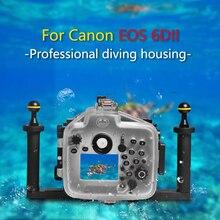 Seafrogs Waterproof Housing for Canon 6D II  DSLR Camera  Underwater 40m 130ft Inbuilt Leak Detection Sensor Optical Port