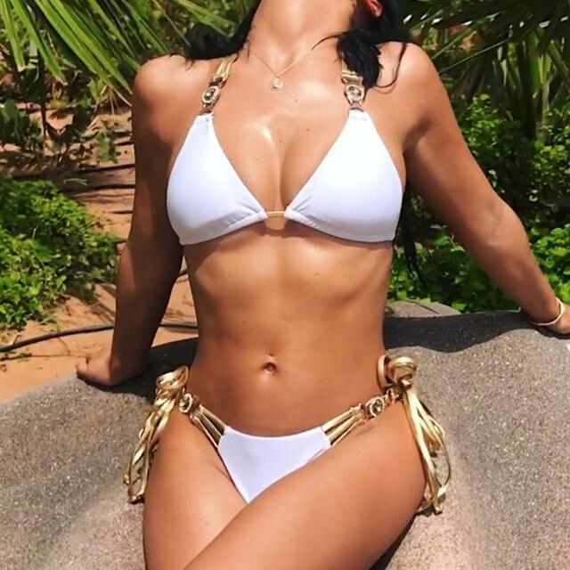 Rhinestone Crystal Tassel Bikini  3