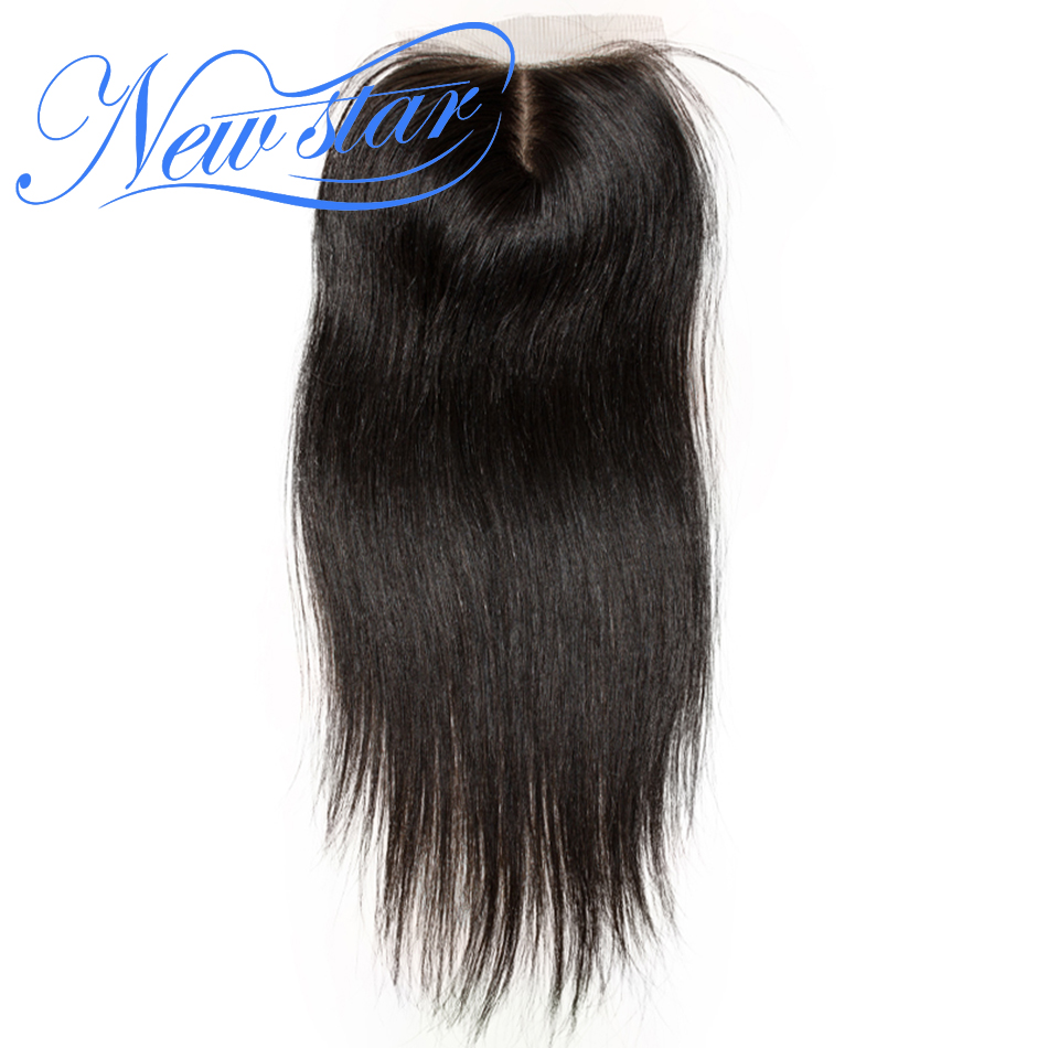 Closures Silk-Based Hairline Human-Hair Natural-Color Pre-Plucked Brazilian 100%Virgin