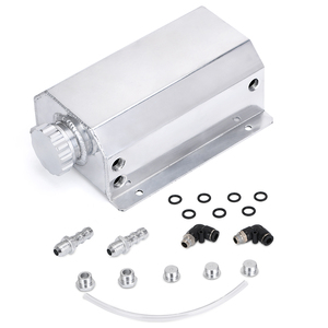 Image 2 - Universal 2 Litre Aluminum Oil Catch Can Reservoir Tank With Drain Plug Breather Oil Tank Fuel Tank 2000ml