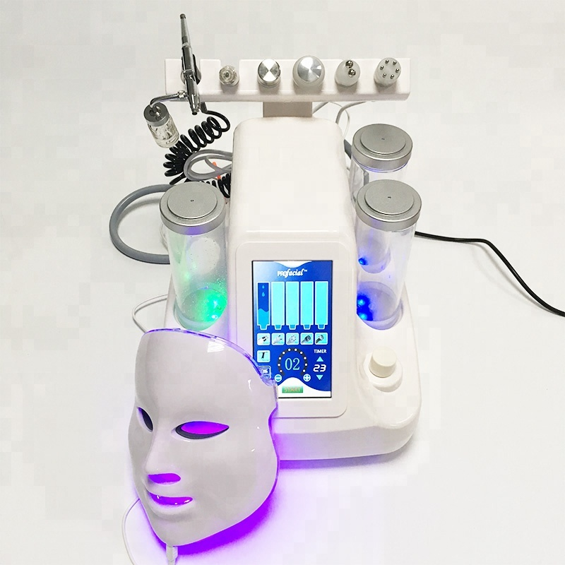 NEW 7 In 1 Hydra Dermabrasion Aqua Peel Clean Skin Care BIO Light RF Vacuum Face Cleaning Hydro Water Oxygen Jet Peel Machine