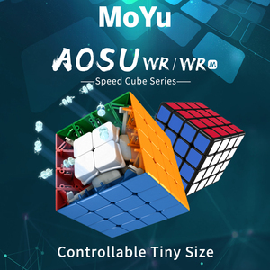 Image 4 - MoYu aosu WR 4x4x4 59mm Cube and WRM 4x4 Magnetic Magic Cube Puzzle Professional WR M Cubing Speed  Educational Kid Toys