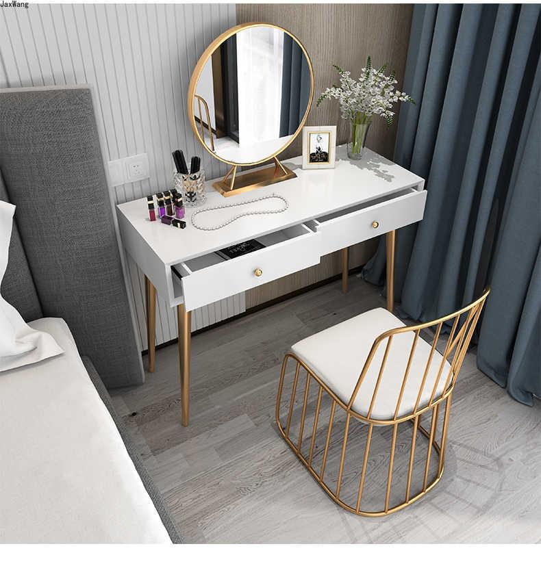 Kommoden Fur Schlafzimmer Moderne Minimalistischen Nordic Stil Luxus Make Up Tisch Mit Licht Kleine Wohnung Dressing Tisch Make Up Stuhl Aliexpress