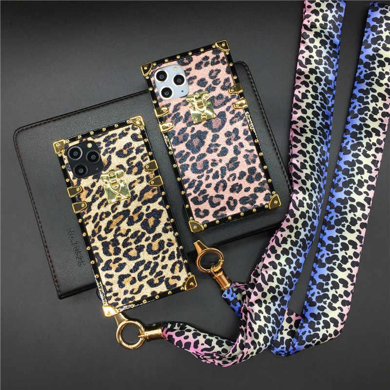 Роскошная пикантная обувь с леопардовым узором, чехол для huawei P20 P30 Pro Коврики 30 Pro 20 Lite Nova 3i 4 5 Honor 10 20 8X 9X Y6 Y7 Y9 квадратной крышкой
