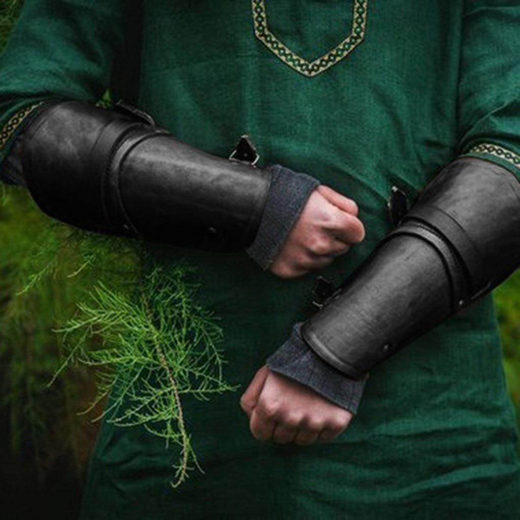 New Fashion Tattoo Sleeves Arm Tattoo Sleeve Men's New Style Medieval Retro LLather Wrist Guard Imitation Leather Wrist Guard