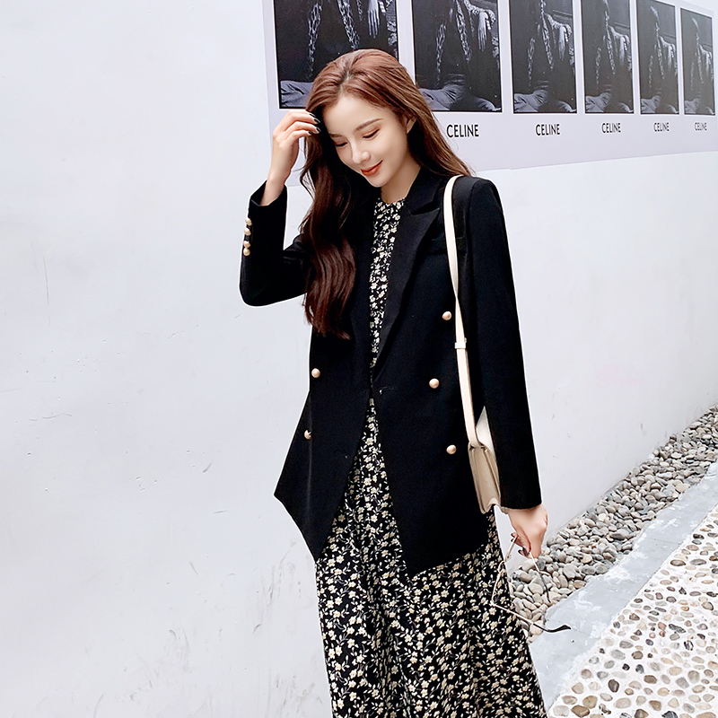 Women Blazer Autumn Fashion Solid Loose Single Breasted Female Jacket Casual Office Lady Blazers Jackets Work Coat Outerwear