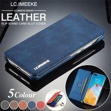 LC. Imeke funda magnética de cuero para Huawei, P40 Pro, P30, P20 Lite, billetera con soporte para tarjetas, funda para Huawei P40 Lite