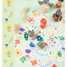 46pcs/box Cute Flower Boxed Kawaii Stickers Planner Scrapbooking Stationery Japanese Diary