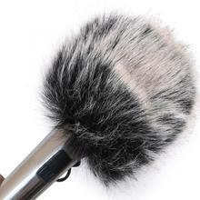 Mic Acouto микрофон ветрозащитная ветровая Меховая муфта для DSLR камеры DV видеокамеры профессиональные аксессуары для микрофона