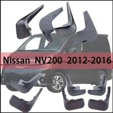 For Nissan NV200 2012-2016 Front Rear Fender Splash Guards Car Accessories mudguard Mud flap mud splash Mud Flaps mud flaps splash guards front for nissan pathfinder 2010 2014 standard