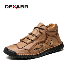 Shoes Boots Fashion Sneakers Handmade Khaki Autumn Casual New Top DEKABR Ankle Comfortable