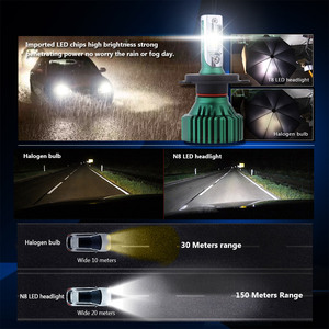 Image 5 - NOVSIGHT H4 LED H7 H11 سيارة أدى المصابيح الأمامية 60W 16000LM H8 H9 9005 9006 القيادة الضباب مصابيح كهربائية اللعب و Pluy مصابيح ضباب 6500K