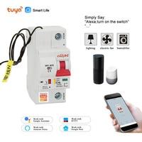 Tuya( Smart Life) 1P 16A  WiFi Smart Circuit Breaker overload short circuit protection  Amazon Alexa Google home for Smart Home