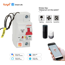 Tuya( Smart Life) 1P 16A  WiFi Circuit Breaker overload short circuit protection Amazon Alexa Google home for Home