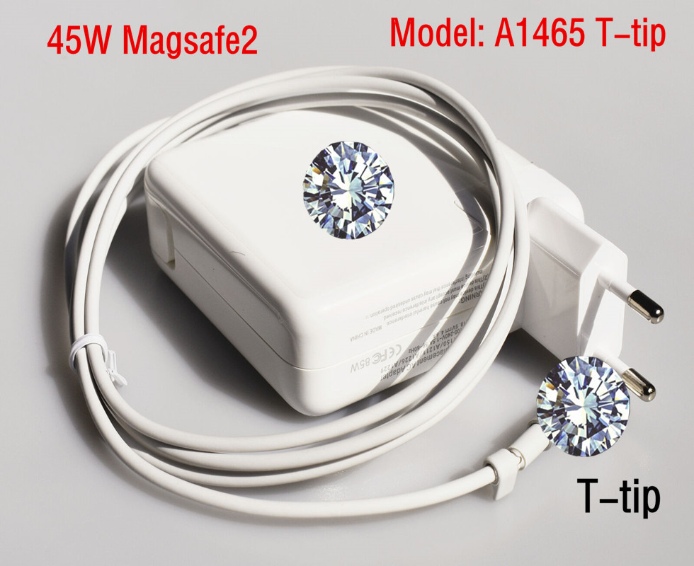 45W 14.85V 3.05A Genuine New Magsafe2 Charger Adapter Power For MacBook Air 11 13 A1466 A1465 Model A1436 T-tip image