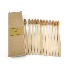 12 sztuk ekologiczny bambus szczoteczka z węglem drzewnym dla zdrowie jamy ustnej niskoemisyjne średniej miękkie włosie drewna uchwyt szczoteczki do zębów tanie tanio Bamboo 12 pcs Pack Dorosłych Szczoteczka do zębów 17 5*1 5*(0 5+1 2)*2 8cm 1200 Typu obrót Customized LOGO Bamboo Handle Toothbrush
