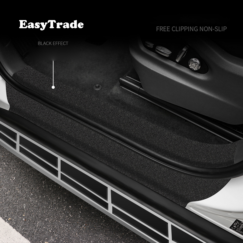 For <font><b>Peugeot</b></font> 3008 4008 <font><b>5008</b></font> 408 308 Car Trunk Door Sill Bumber Anti-skid Protector Scratchproof Sticker Car Accessories image