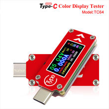 Usb тестер tc64 с цветным ЖК дисплеем вольтметр амперметр измеритель