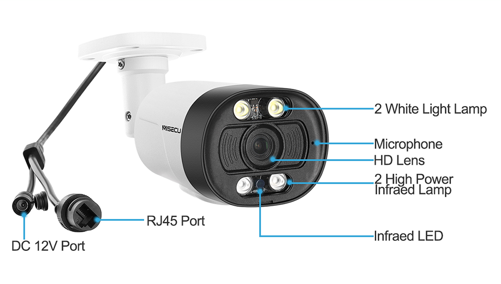 Image 5 - MISECU H.265 Super HD 5MP Two way Audio Security POE IP Camera Human Detection Outdoor Waterproof AI Camera ONVIF for POE NVR-in Surveillance Cameras from Security & Protection