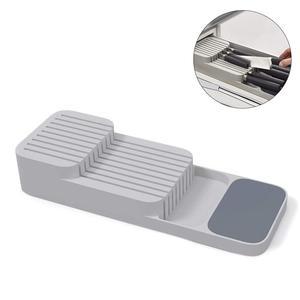 1PCS Double-layer Cutlery Drawer Organizer Kitchen Drawer Organizer Tray For Cutlery Storage And Cutter Cutlery Trays Shelf(China)