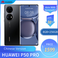 Chinese Version Huawei P50 Pro 4G Mobile Phone 6.6 Inches OLED Screen 8GB 256GB Smart Phone 64MP +13MP 4360mAh Kirin 9000 Chip 1