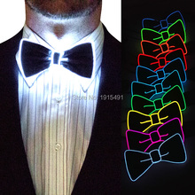 2017 New arrival 10 Color available Holiday Lighting EL Glowing BowTie Sparkling For Stage,Party Decoration+one DC-3V EL inveter цена 2017