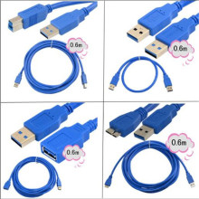 High-speed USB3.0 line A male to Micro B AM-BM AM-AF AM-AM hard disk printing extension cable mobile computer data