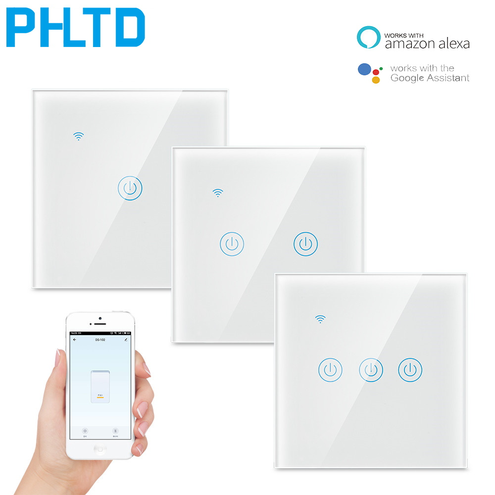 WiFi Touch Light Switch 1 2 3 Gang APP Control Wall Light Switch Wireless Smart Home Switch Smart Life