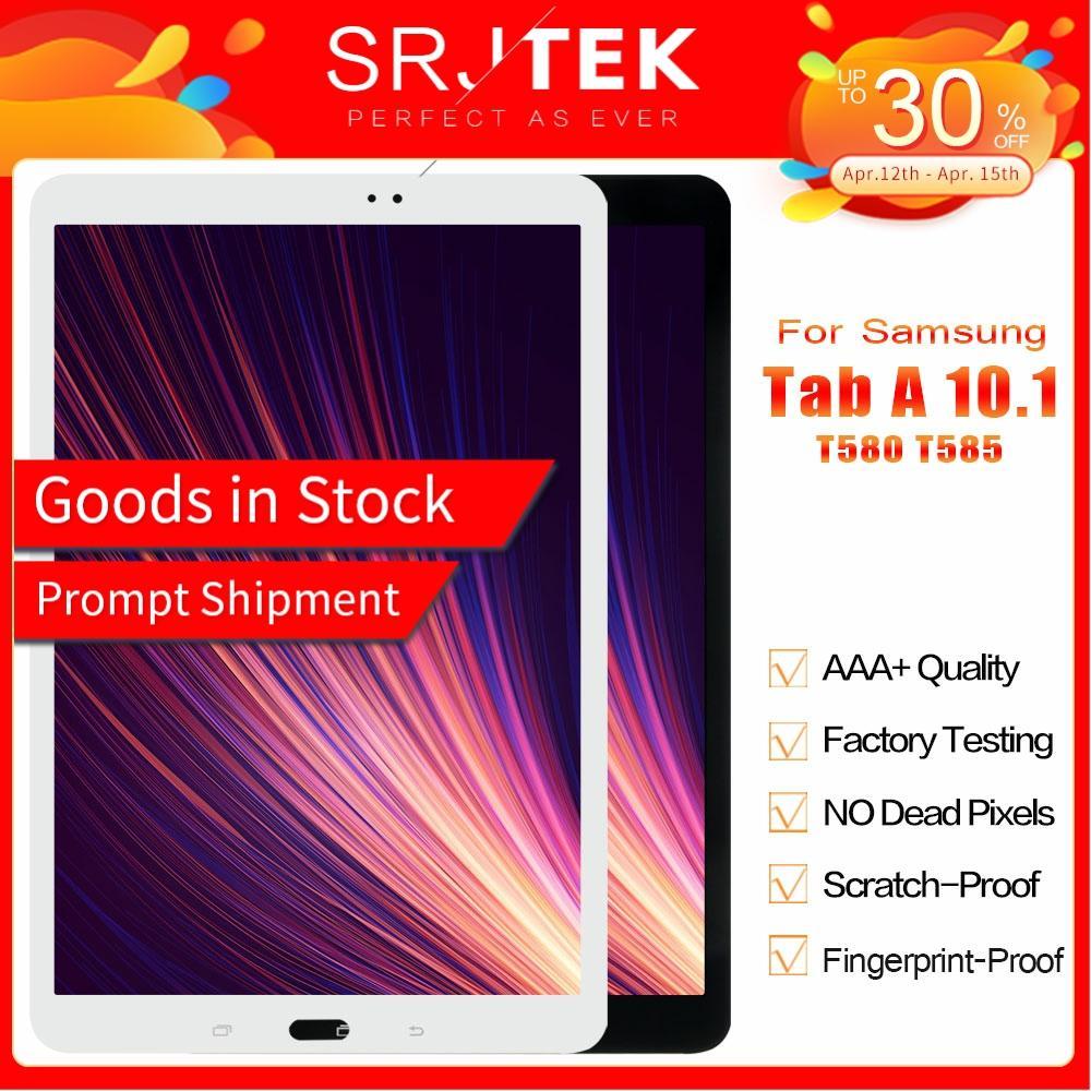 SM T580 LCD pour Samsung Galaxy Tab A 10.1 SM T580 écran SM T585 LCD matrice écran tactile T585 numériseur assemblée remplacement|Panneaux et tablettes LCD| |  -