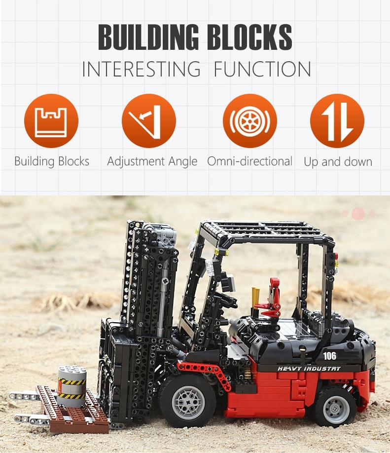 MOULD KING  Technic Motor Power Mobile Crane Mk II Building Block 14