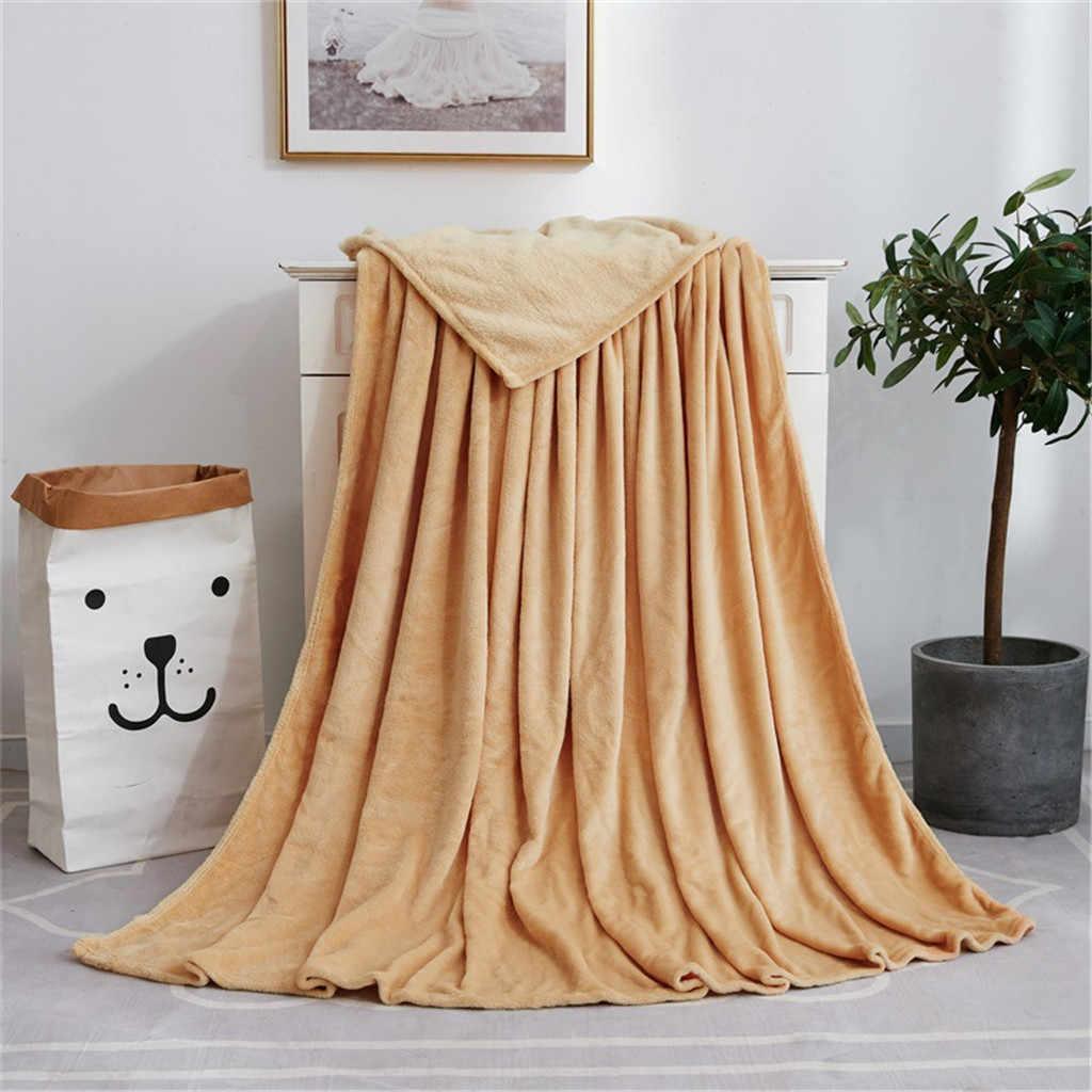 Weiche Warme Korallen Fleece Decke Herbst Winter Klimaanlage Bett Decken für Sofa Bettwäsche 50x70cm Licht Flanell decke F1118