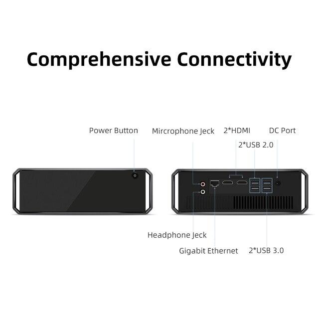 CHUWI CoreBox, Windows 10 Mini PC, Intel Core i5, Mini Desktop, 4K Decoding, 8GB RAM, 256GB SSD, Gigabit Ethernet, 2.4G/ 5G Wifi 6