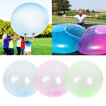 130cm Giant Bubble Ball Big Balloon Air Water Filled Magic Bubble Ball Children Outdoor Inflatable Toys Summer Party Supplies 2 0m dia inflatable water ball water walking ball human hamster ball giant inflatable ball water zorb ball